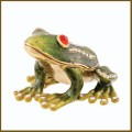 jeweled enamel tree frog box
