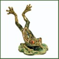 jeweled enamel jumping frog trinket box
