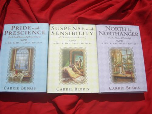 3 Mr  Mrs Darcy - Jane Austen mysteries by Carrie Bebris - first edition hardcover hcdj