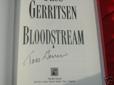 Bloodstream by Tess Gerritsen -- Signed -- first print hardcover hcdj