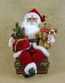 Traditional Santa Claus Seated Figurine Karen Didion