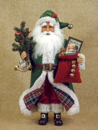 Tartan Santa Claus Figurie Collectible Karen Didion Scottish