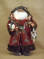 Lighted Woodland Santa Claus Figure Karen Didion Collectible