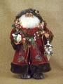 Lighted Woodland Santa Claus Figure Karen Didion Collectible
