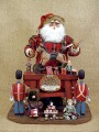 Vintage Santa Claus Workshop Figurine Karen Didion