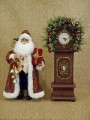 Santa Claus w Grandfather Clock Karen Didion