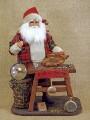 Vintage Santa Clause the Clock Maker Figure Karen Didion