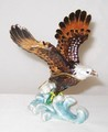 Bald Eagle Bird Jeweled Hinged Trinket Box