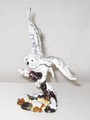 White Snow Owl Bird Jeweled Hinged Trinket Box Gift