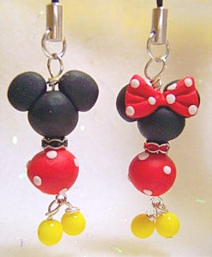 Mickey Minnie Mouse Cell Phone Zipper Purse IPod Charm