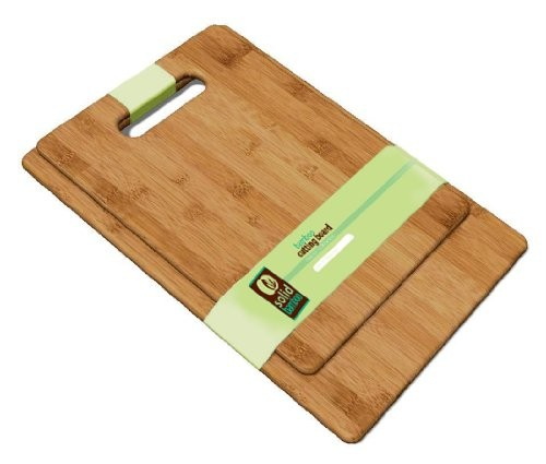 Solid Green 2pc Bamboo Cutting Board Set by TruBamboo