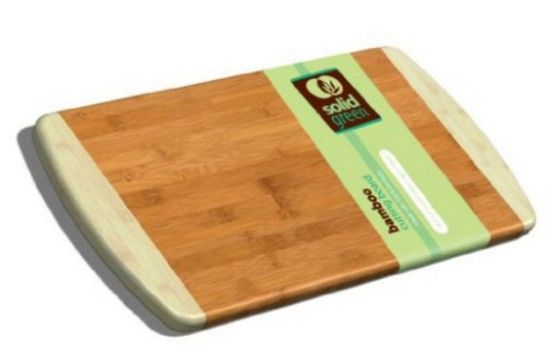 Solid Green Medium Long Two Tone Bamboo Cutting Board by TruBamboo