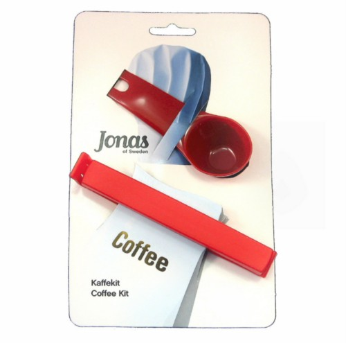 Jonas of Sweden Coffee Scoop and Twixit Bag Clip Red
