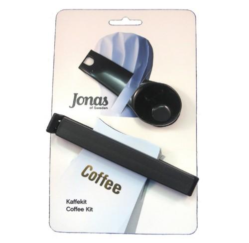 Jonas of Sweden Coffee Scoop and Twixit Bag Clip Black