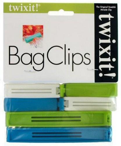 Twixit Clip Kitchen & Food Storage Bag Sealer Clips 6pk