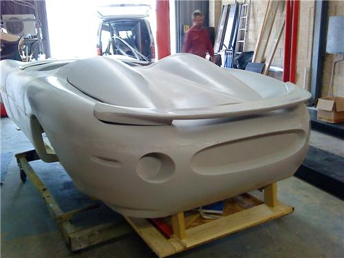 XK180 replica body rear