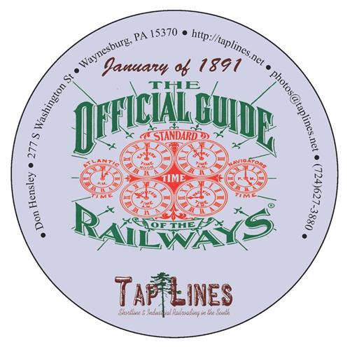 1891 Traveler's Official  Railway Guide of the US & Canada scanned to PDF on DVD