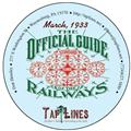 March of 1933 OFFICIAL GUIDE OF RAILWAYS scanned to PDF on CD
