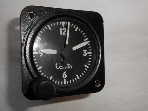 1962 1966 Cessna Borg Clock 14v Unlit Will Also Fit