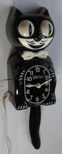 Kit Cat Klock Clock Model D8 Black Kat Serviced Amp Works