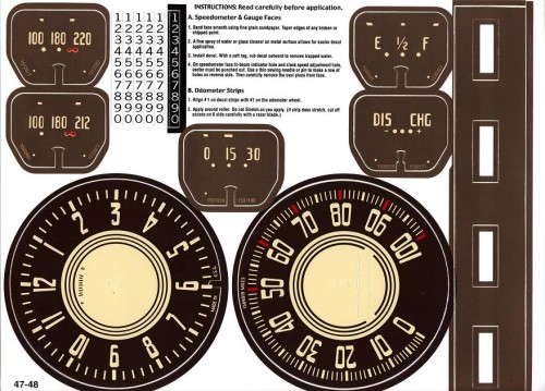 1947 1948 Chevrolet Clock Gauges Odometer Strips And