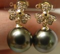 AAA PEACOCK TAHITIAN PEARL 14KY GOLD DIAMOND EARRINGS.jpg