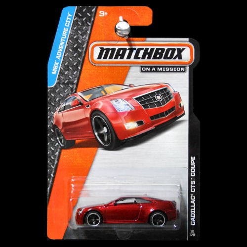 Matchbox 2014 MBX Adventure City Cadillac CTS Coupe Red