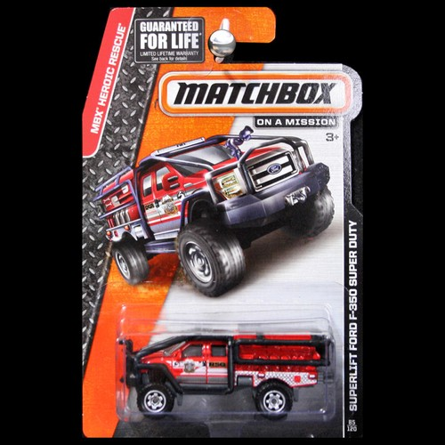 Matchbox 2014 Heroic Rescue Superlift Ford F350 F-350 Super Duty Red Fire - CarMiniatures.com