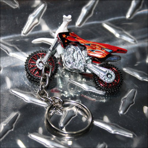 hot wheels dirtbike dirt bike motorcycle red keychain key. Black Bedroom Furniture Sets. Home Design Ideas
