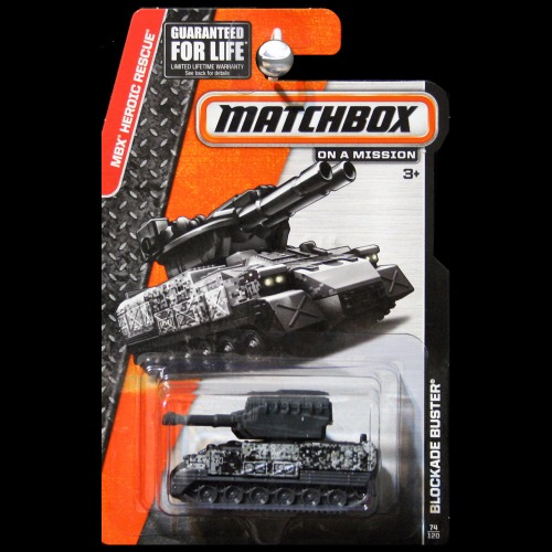 Matchbox 2015 heroic rescue blockade buster army tank for Wrap master model 1500