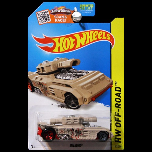 Hot Wheels 2015 Off-Road Battle Kings Invader Tank Tan ...
