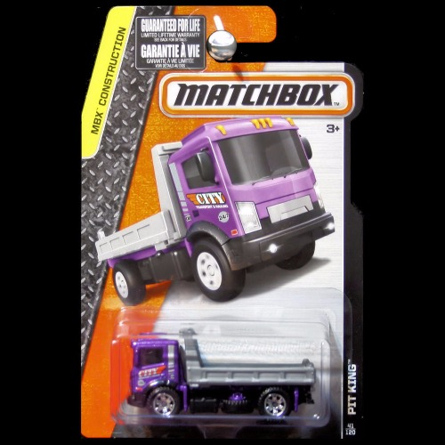 Matchbox 2016 MBX Construction Series Pit King Flatbed Tow