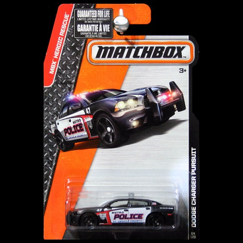 Matchbox 2016 Heroic Rescue Dodge Charger Pursuit St
