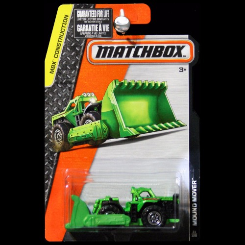 Matchbox 2016 MBX Construction Mound Mover Bulldozer
