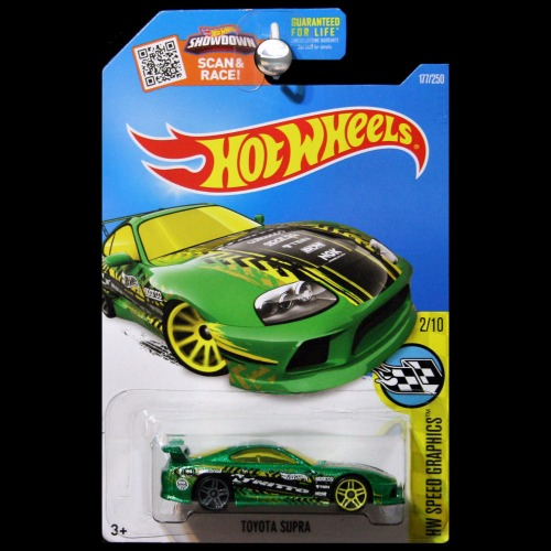hot wheels 2016 hw speed graphics toyota supra green