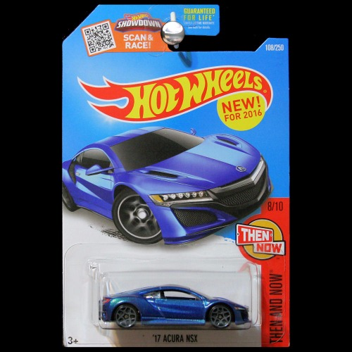 hot wheels 2016 hw then and now 2017 acura nsx blue   carminiatures