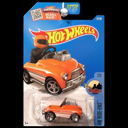 hot wheels 2016 ride ons pedal driver car orange. Black Bedroom Furniture Sets. Home Design Ideas