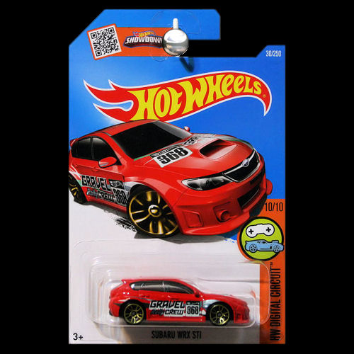 hot wheels 2016 digital circuit subaru wrx sti red. Black Bedroom Furniture Sets. Home Design Ideas