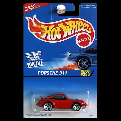 hot wheels 1997 590 porsche 911 in red with 5 dot wheels. Black Bedroom Furniture Sets. Home Design Ideas