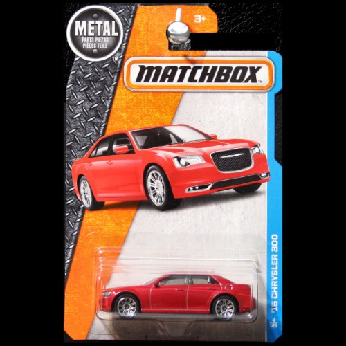 Matchbox 2017 MBX Adventure City 2015 Chrysler 300 In Red