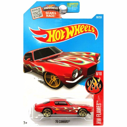 Hot Wheels 2016 HW Flames 1970 Chevy Chevrolet Camaro Red