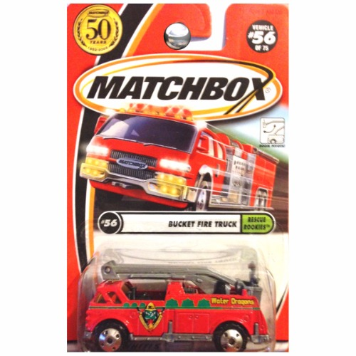 Matchbox 2002 50th Anniversary Rescue Rookies Bucket Fire