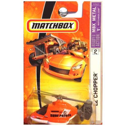 Matchbox 2007 MBX Metal LZ Chopper Surf Patrol Helicopter