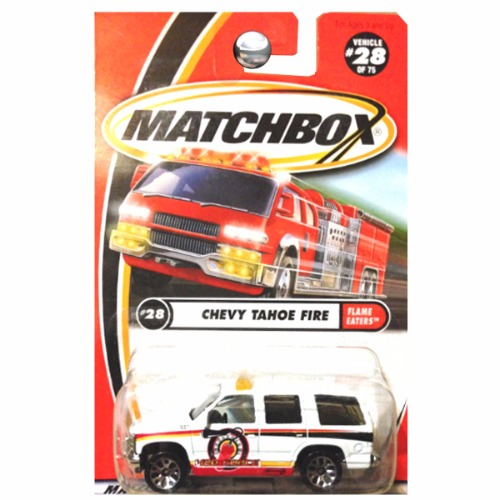 Matchbox 2000 Chevrolet Chevy Tahoe Flame Eaters Fire