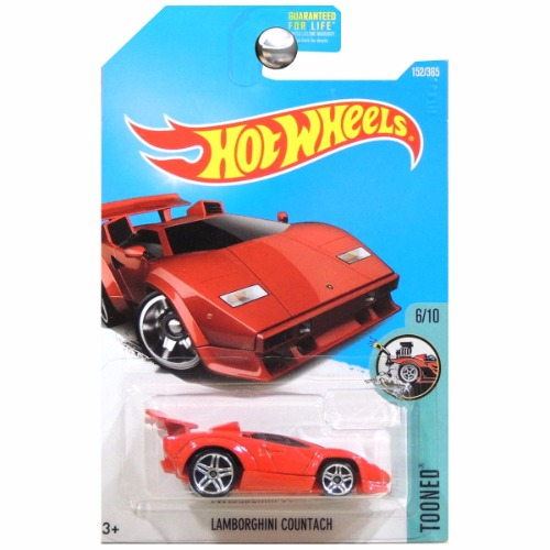 hot wheels 2017 tooned lamborghini countach red. Black Bedroom Furniture Sets. Home Design Ideas