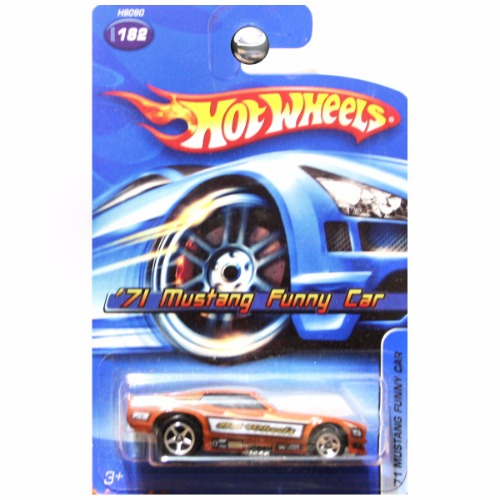 hot wheels 2005 1971 39 71 ford mustang funny car drag dragster in copper orange 182. Black Bedroom Furniture Sets. Home Design Ideas
