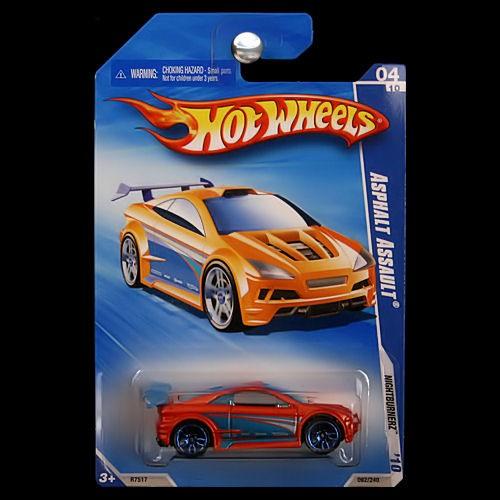 Hot Wheels 2010 Nightburnerz Asphalt Assault Orange Blue