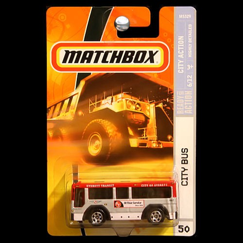 Matchbox 2008 City Action City Bus Red And White