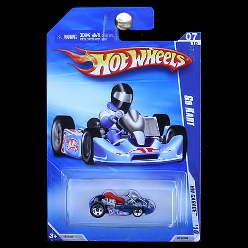 hot wheels 2010 hw garage go kart cart red white blue. Black Bedroom Furniture Sets. Home Design Ideas
