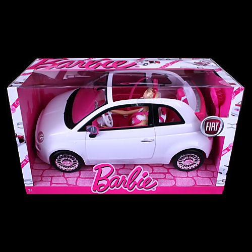 White and pink barbie jeep #3